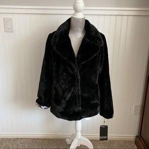 Badgley Mischka Black Fur Coat size Medium